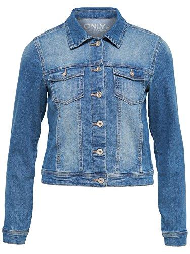 Only Damen Jeansjacke onlNEW Westa Jacket PIM4203 blau, Größe:38