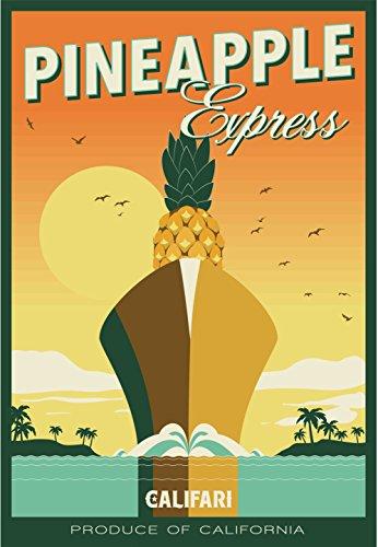 Califari Ananas Express Full Color Sorte Art Poster, mit berühmten Topf, Weed, Marihuana, Ganja aus Aller Welt-13x 19Druckvorlage von Drucken