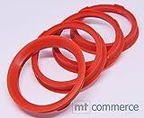 4x Zentrierringe 67,0 x 57,1 mm rot Felgen Ringe Made in Germany