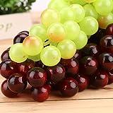 wofee 2ramo de plástico verde púrpura artificial racimo de uva fruta Artificial para decoración del hogar