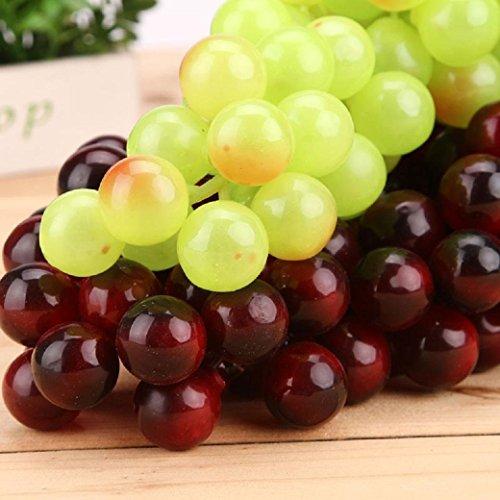 f-eshion-grappe-de-raisin-vert-artificiel-violet-set-de-2-pieces