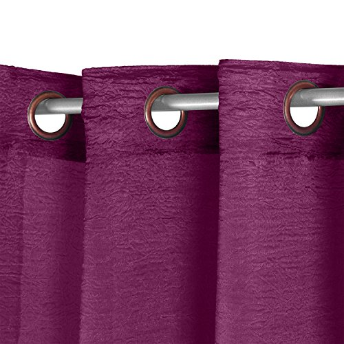cortinas confeccionadas 2 piezas con ollaos para ventana hogar saln dormitorio comedor - Cortinas Moradas