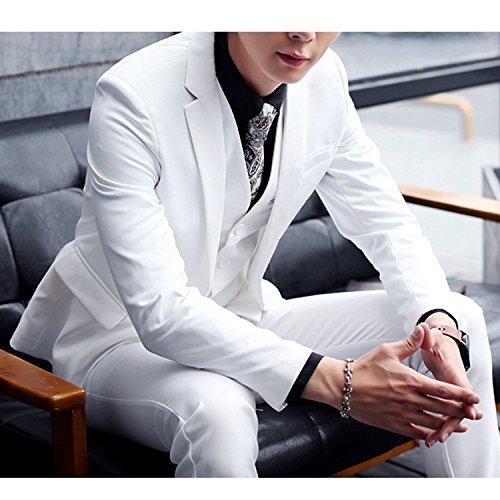 Zhuhaitf Fashion Mens Formal Wedding Suits Blazer Coats Jackets & Vests & Trousers 3 PCS Suit Blazer blue