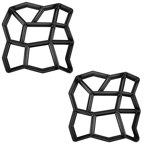 HENGMEI D.I.Y. Pavimentazione di Pietra Cemento Forma Stampo per pavimentazione Calcestruzzo