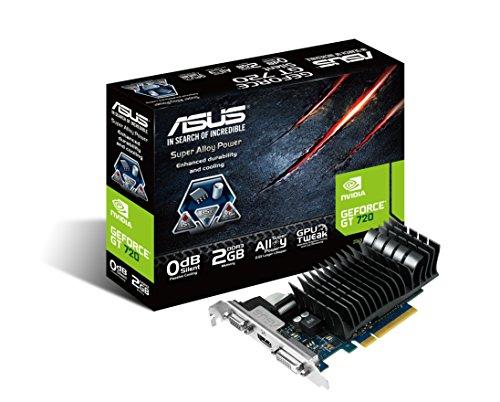 Asus GRA PCX  GT720 Silent LP Grafikkarte (PCI-e, 2GB GDDR3-Speicher, HDMI, DVI, VGA, 1 GPU)