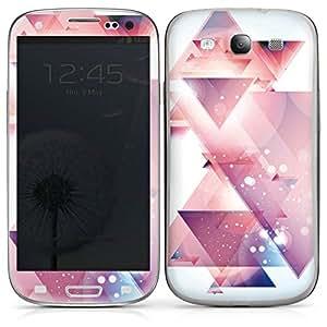 Samsung Galaxy S3 Case Skin Sticker aus Vinyl-Folie Aufkleber Dreiecke Galaxie Muster