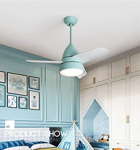 YBCD Led Kronleuchter elektrische Fan Licht/Deckenventilator Licht/Propeller Design Deckenventilator 36 Zoll / 96cm Restaurant Schlafzimmer Fan Licht/Bequeme Fernbedienung -