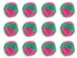 12x Wenko WENKO Wäschebälle Flusenschreck Trocknerbälle Flusenkugeln Wäsche, 12er-Set