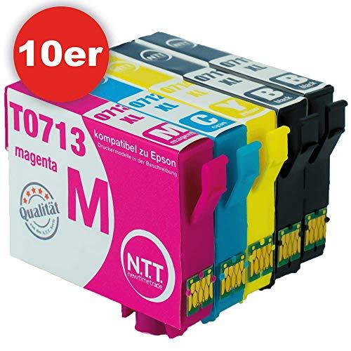 epson stylus bx300f N.T.T.® 10 Stück XL Druckerpatronen, Sparset für Epson T0711 T0712 T0713 T0714 (2 Sets + 2 x schwarz gratis)