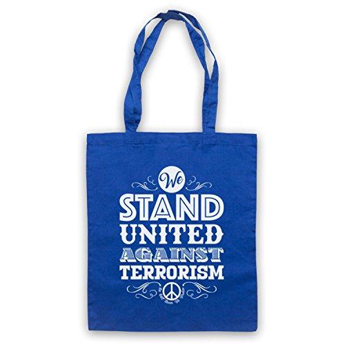 Siamo Uniti Contro Il Terrore Non Saremo Mai Spezzati Umhangetaschen Blau