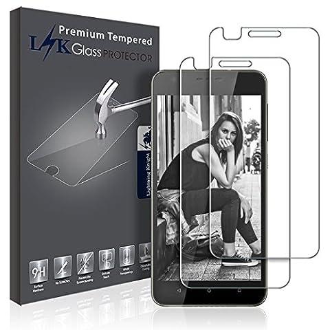 Protection écran HTC Desire 10 Lifestyle, LK [2 Pièces] Verre Trempé Screen Protector Film [Garantie de Remplacement à Durée de Vie]