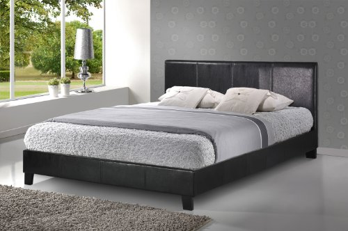 Birlea Berlin Bed - Faux Leather, Black, King Size