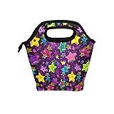 Lunchtasche mit Stern-Motiv, Thermo-isoliert, mit Reißverschluss, für Kinder, Erwachsene, Mädchen, Jungen, Frauen, Herren