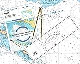 Flash-Tide - Pack Permis Hauturier (Carte + règle cras + Compas Droit)...