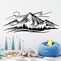 New Mountain Landscape Wall Stickers for Living Room Home Bedroom Wall Decals Decoration Removable Mural Agcwhml