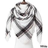 MCSZG New Thick Warm Winter Triangle Damenschal Plaid Kaschmir Strickschals Weibliche Schals Wraps Blanket Ladies