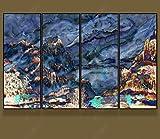 Carta da parati semplice senza cuciture del fondo del salone della nuova TV cinese Zen Ink Landscape Painting TV Sofa Background Atmosphere Carta Da Parati moderna 3D Fotomurali spiaggia-250cm×170cm