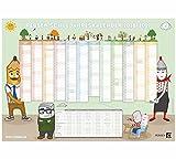 PERSEN Wandkalender DIN A1 - Schuljahr 2018/19: DIN A1 Schuljahreskalender mit Feiertagen, und Platz für Klassenereignisse