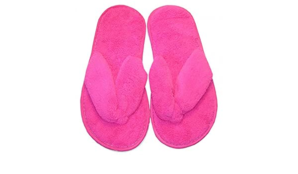 watch 5f2d3 b7b58 Chica Chic – Flip Flops Weiche Frottee, Damen, Pink - Pink ...