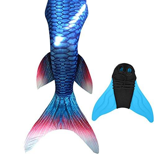 DECOOL Meerjungfrauenschwanz Ⅱ zum Schwimmen mit Verbesserten Flosse und Schönere Mermaidens Meerjungfrauenschwanz-Geeignet für Kinder und Erwachsene