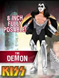 Figures Inc. Kiss Retro 8 Inch Poseable Action Figure Series 1 The Demon