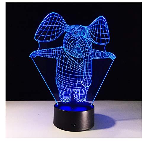 Wanjuna Amazing 3D Illusion Led Lámpara De Mesa Luz De Noche Con...