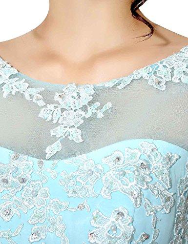 Sarahbridal Damen A-Linie Kleid Violett