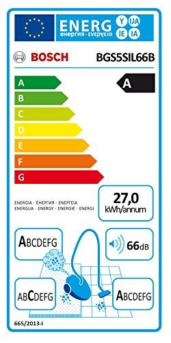 Bosch BGS5SIL66B Relaxx x ProSilence   Aspirador sin bolsa AAA silencioso  tecnología SensorBagless  700 W  autolimpieza de filtro SelfClean  color negro