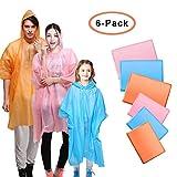 Ponchos anti-pluie avec capuchons, 3 pour enfants 3 pour vêtements de pluie jetables pour adultes Poncho imperméable imperméable
