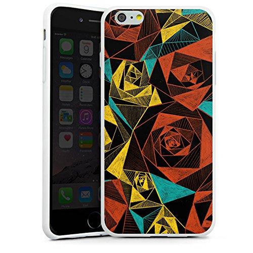 Apple iPhone X Silikon Hülle Case Schutzhülle Rosen Muster Rose Silikon Case weiß