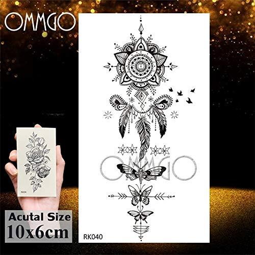 Fake e Tattoos Dreamcatcher Aufkleber Für Frauen Mädchen Männer Jungen Wasserdicht Tattoo Papier Body Art Arm Tatoo 5 Satz ()