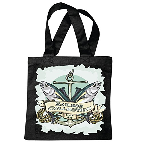 sac à bandoulière POISSON PECHE VOILE COLLECTION PIRATE VOILIER VOILIER DIRECTION SKULL CORSAIR ANCRE SKULL PIRATE VOILIER VOILIER DIRECTION SKULL PIRATE SAILING Collektion SKULL CANCER DE DIRECTION