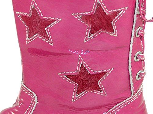 Zecchino d'oro boots 06–4619/a, bottes fille - Fuxia (knautschlack-pink 237)