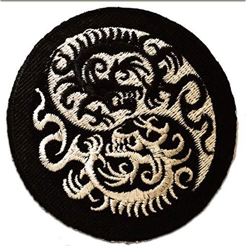 Yin yang parche dragón '7.5 x 7.6 cm'- Parche Parches Termoadhesivos Parche Bordado Parches Bordados Parches Para La Ropa Parches La Ropa Termoadhesivo Apliques Iron on Patch Iron-On Apliques