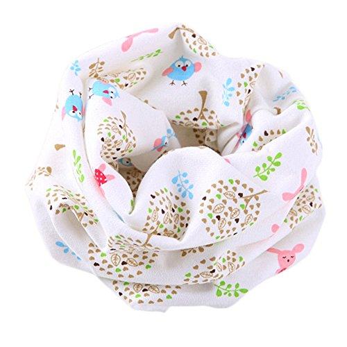 Bebé pañuelos de cuello, RETUROM Otoño Invierno Chicos Muchachas Bebé Algodón O Anillo Cuello Bufandas (blanco(C))