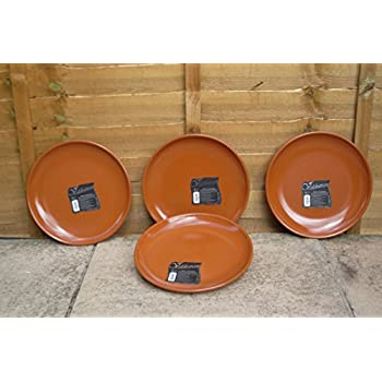 Set of 4 Spanish Terracotta Dinner Plates / Tapas Plates - 29cm Diameter  sc 1 st  Amazon UK & Set of 4 Spanish Terracotta Dinner Plates / Tapas Plates - 29cm ...