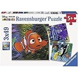 Ravensburger Disney Finding Nemo In the Aquarium, 49 pieces Puzzle (3 pack)