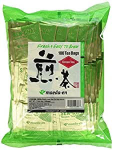 MAEDA-EN Japanese Sencha Green Tea Wrapped Tea Bags - 100 Foil