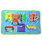 Per des panneaux d'apprentissage Montessori Matériaux Jouets éducatifs pour l'apprentissage Dressing Soft Tables en tissu