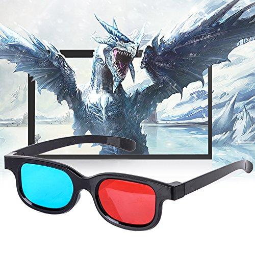 1 X Rot Blau 3D Brille für Abmessungen Anaglyph Fernseh Film Spiel-DVD
