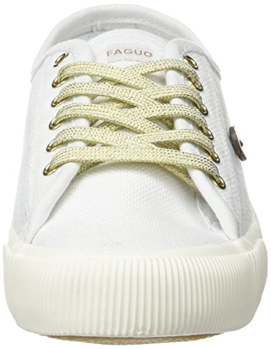 Faguo Birch, Baskets Basses Mixte Adulte Blanc (White/Champ)