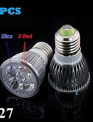 SDYJQ Full Spectrum 10W E27 LED bleue 3Red+2croître pour feux de fleur plante système hydroponique croissance Encadré