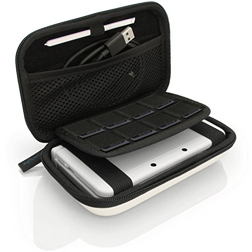 igadgitz Weiß EVA Hart Tasche Schutzhülle fur Neu Nintendo 3DS XL (Alle Versionen) & 2DS XL 2017 Etui Case Cover mit Tragegurt