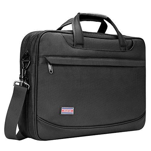 38,1 cm Laptop Tasche Business Aktentasche für Männer Frauen Stilvolle Nylon Multifunktionale Schultertasche Messenger Bag für Notebook Computer Tisch Schwarz - Pc-pavillon-laptop-notebook-computer
