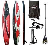AQUA MARINA RACE SUP Stand Up Paddle Surfboard Standard Alu Paddel Leash