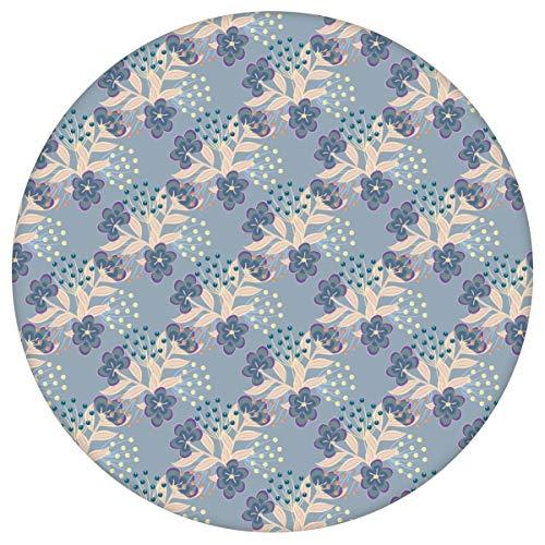 blau Blumentapete