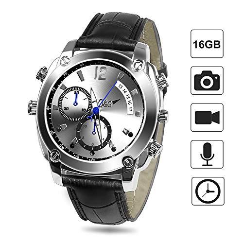 Mini Kamera, FLYLINKTECH 16GB Spy Watch 1080P Versteckte Kamera Uhr mit Wasserdichter Funktion und Nachtsicht