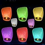 10Pcs mehrfarbige Himmel-Laternen-chinesische Fliegen-Wunsch-Lichter für Wunsch-Partei-Hochzeit Charistmas