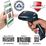 RETSOL D-2030 Laser Barcode Scanner 1D, 2D and QR Code USB Wired Optical