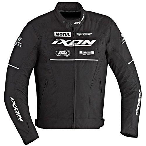 Ixon Matrix Jacke Motorrad Textil schwarz und weiß L50–L50